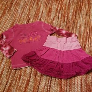 Baby girls 12 mth tcp skirt shirt bundle set